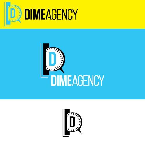 Dime Agency logo design