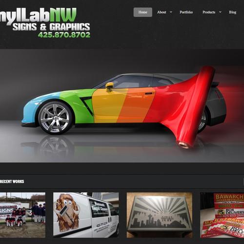 Beautiful Website Header for VinylLab