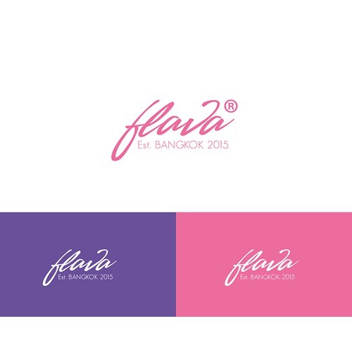 tyography logo for a women clothing line