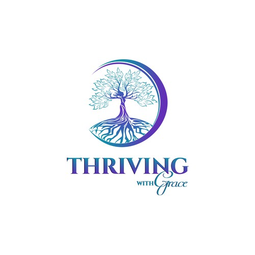 Create a simple yet elegant logo for Thriving With Grace
