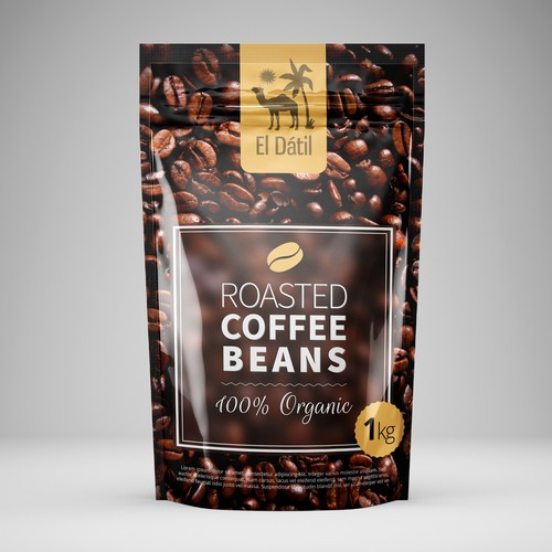 Poster/Bag for Coffee Beans mockup