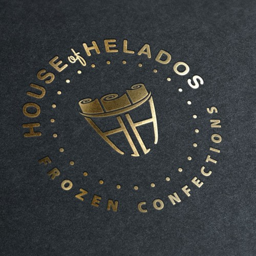 Logo concept for an  'Helados# co.