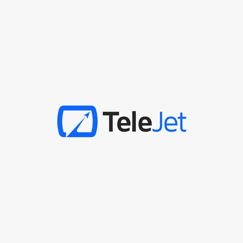 Bold, minimalist, and approachable logo concept for teleJet