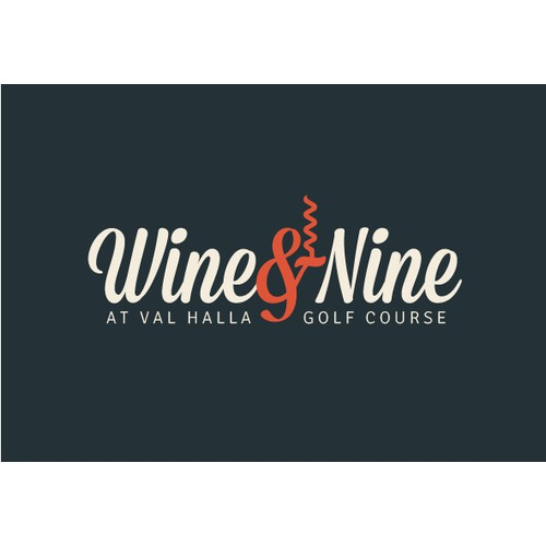 Logo concept for a golf center with wine tasting