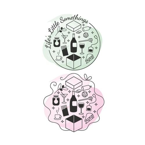 Gift box logo concept