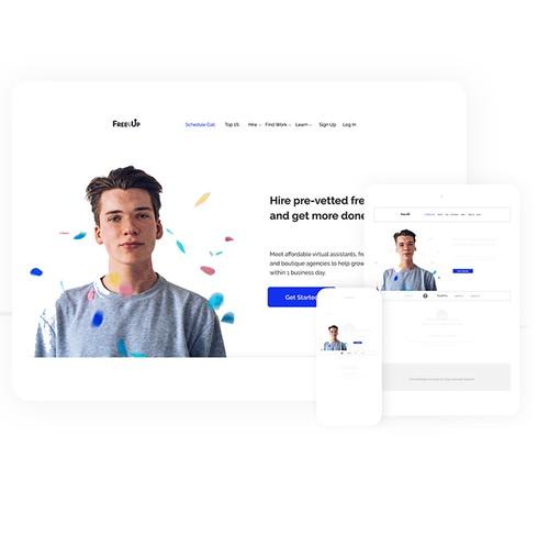 Colorful, Elegant Website UI Design