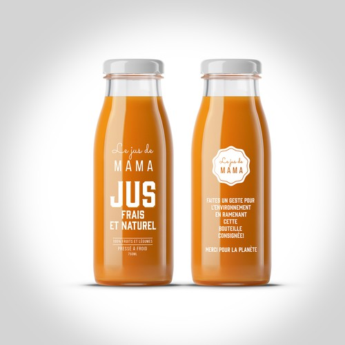 PACKAGE DESIGN FOR JUS FRAIN ET NATUREL