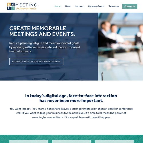 Meeting Achievements | Website for an Events Management Company