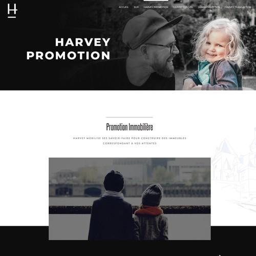 Créer un site élégant et simple pour Harvey