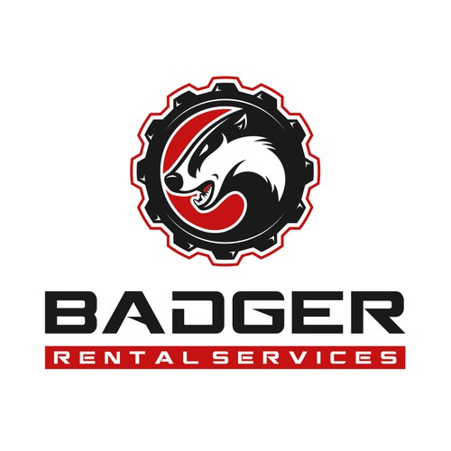 Logo and business card for Badger Rental Services