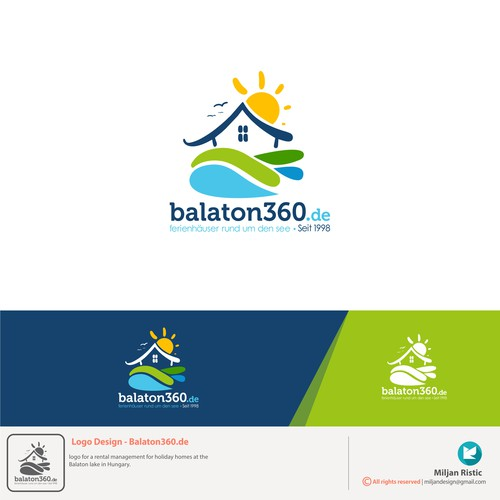 Logo for a rental holiday homes at the Balaton lake in Hungary.
