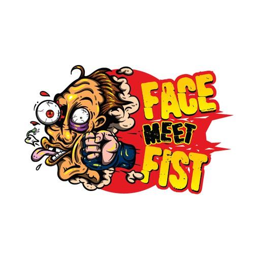 Face Meet Fist Character design
