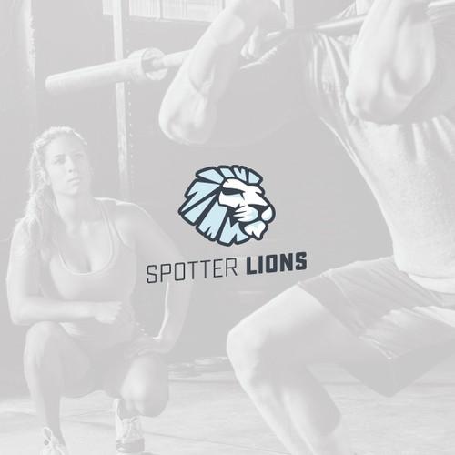 Modern and minimal lion logo