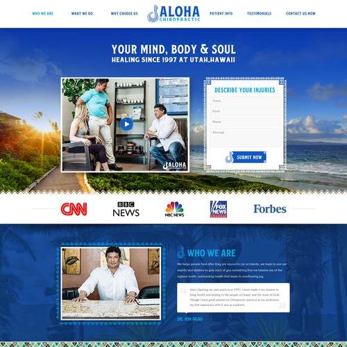 Creative website theme