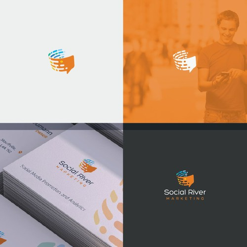 modern logo for social marketing agency
