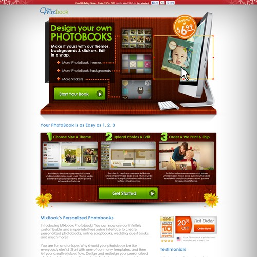 MixBook Webpage concept