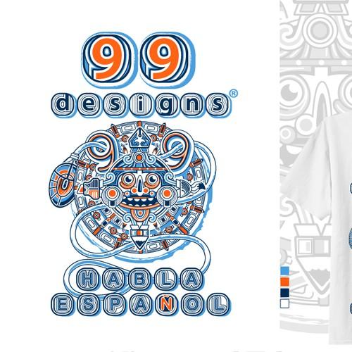 ¡99designs habla español! Diseña una camiseta para celebrar con nosotros (Concurso de la comunidad)