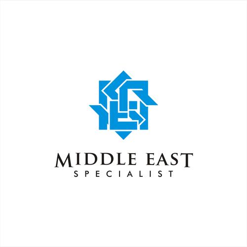 Bold logo for Mid East company