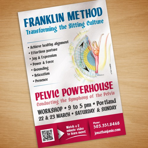 Poster for a health workshop