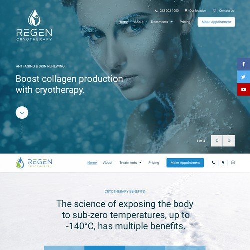 Website for Cryotherapy business