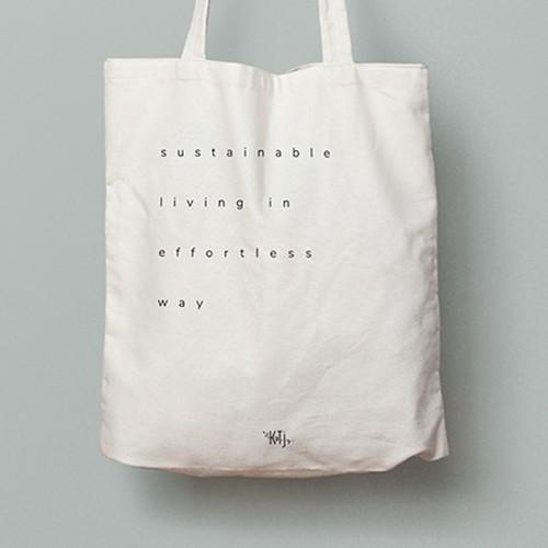 minimal tote bag  🌱
