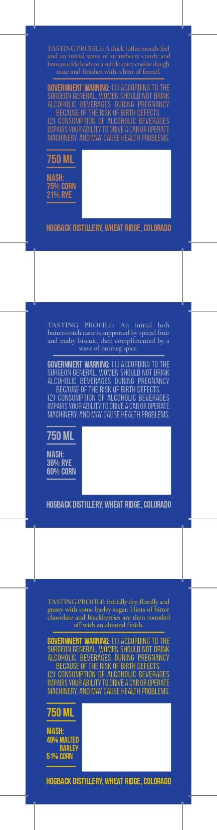 Hogback Bourbon Whiskey Label