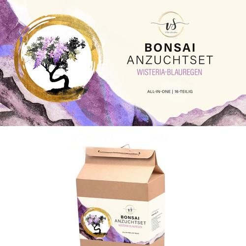 Bonsai packaging label design