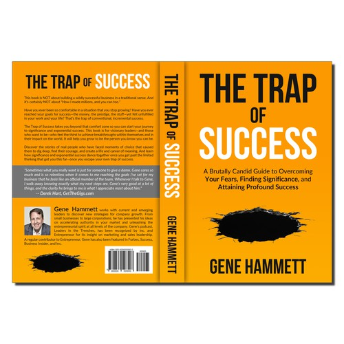 A Compelling and Powerful Book Cover (non-fiction) The Trap of Succes