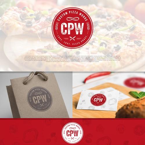 Logo for pizzeria CPW