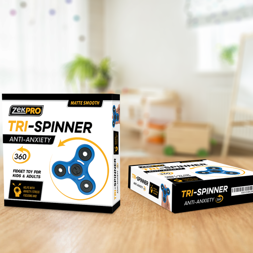 Tri-Spinner, packaging design