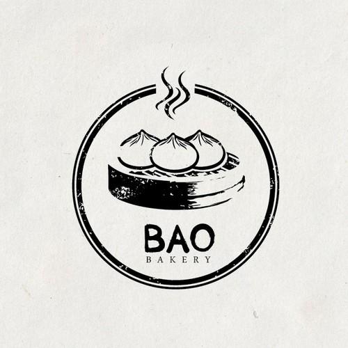 Logo concept for bakery shop for steam buns