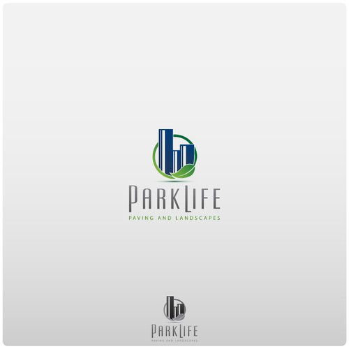 Create the next logo for PARKLIFE PAVING AND LANDSCAPES