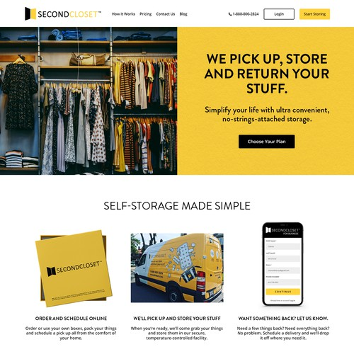 Webdesign for rent a storage company