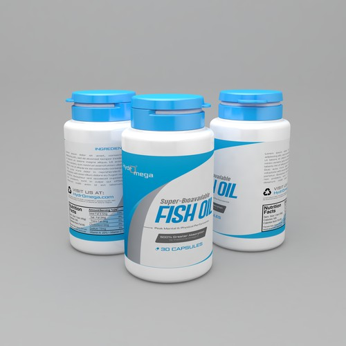 Fish Oil Label Design
