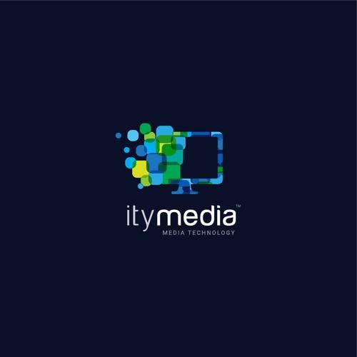 itymedia - Innovative logo for IT and Media Technology Company