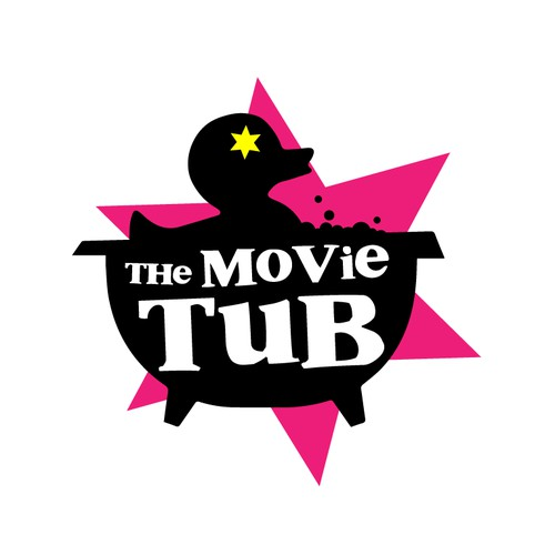 Bold logo concept for a Hot tub Cinema event