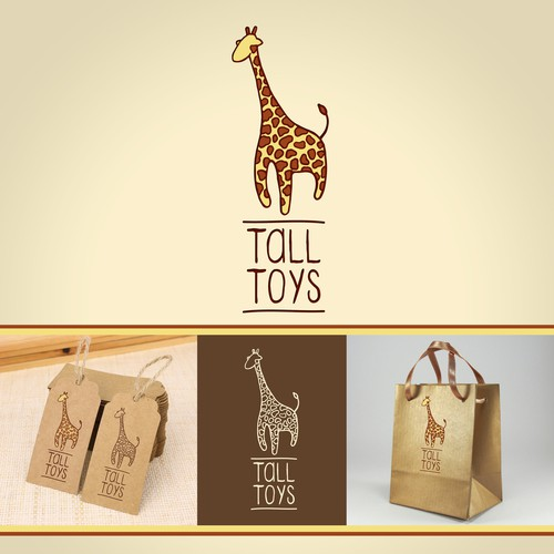 "Playful logo design for a ""Tall Toys"""