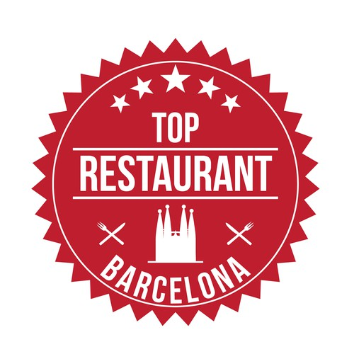 "Logo/Emblem/Badge for Blog ""Top Restaurant Barcelona"""