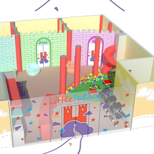 Kids Play Area Plan and Side View drawings