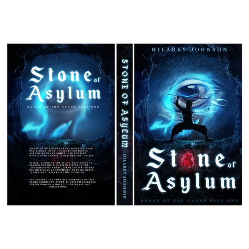 "Book Cover Design for historical-fantasy series named"" Stone of Asylum"""