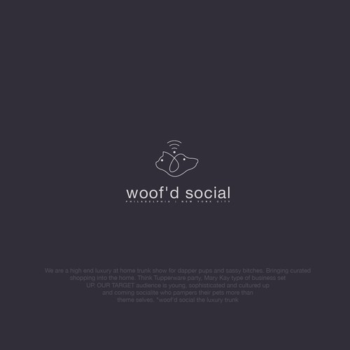 brand identity for woof'd social