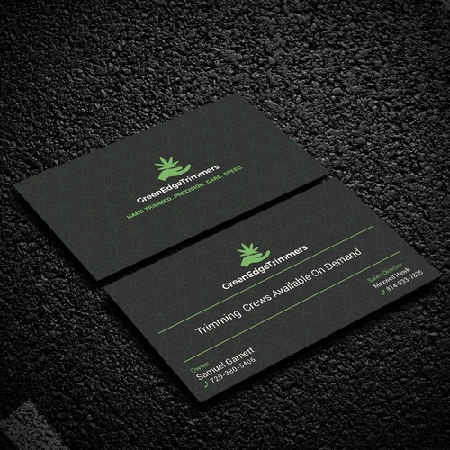simple, modern, clean graphics Business Card for Green Edge.