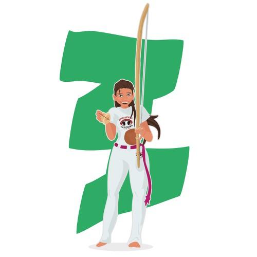 Concept for Woman Capoeirista