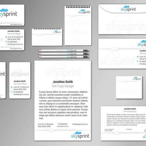 Create the next stationery for SkySprint