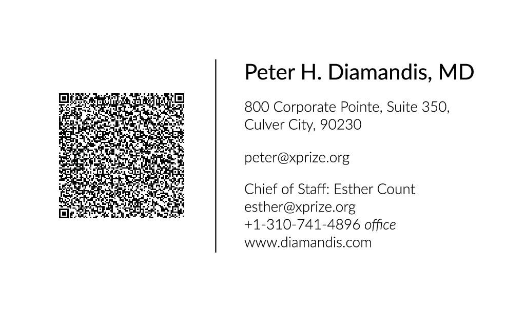 Business Card for World Renown Entrepreneur