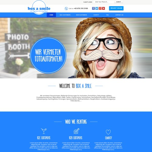 website relaunch for Photobooth rental company