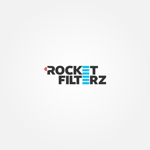Bold and creative logo concept for Rocket Filterz