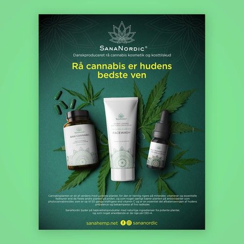 Poster designs for worlds only raw cannabis juice products