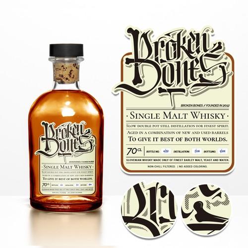 Malt Whisky label