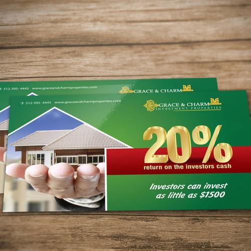 Post card design - real estate company.